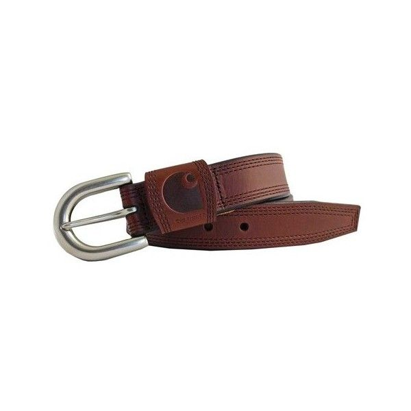 Women's Carhartt Detroit Belt (115 BRL) ❤ liked on Polyvore featuring accessories, belts, leather goods, tan, wide buckle belt, leather belt, tan leather belt, genuine leather belt and real leather belts