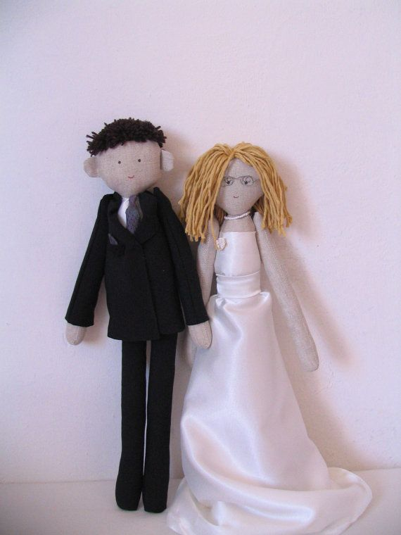 Custom personalized wedding dolls rag dolls bride and groom rag doll by apacukababa https://www.facebook.com/ApaCukababa