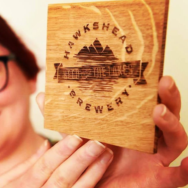 Here's one we made earlier...Bespoke laserengraved beermats with Hawkshead Brewery logo made to add value to their gift packs - like all Bough to Beauty Bespoke products these were made from sustainably sourced FSC certified solid oak and cured with organic linseed oil to make them super durable - they're also food safe!  We can laser engrave your vectored artwork onto wood!  #beermats #coasters #durable #luxury #luxurylife #oak #personalised #presents #promotionalproducts #branding…