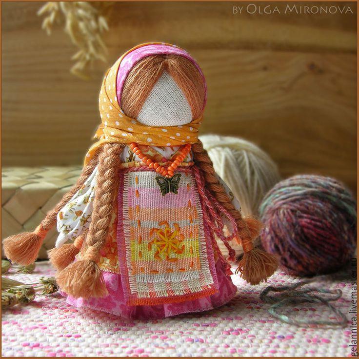 Купить Огневушка - оранжевый, огенвушка, огневушка-поскакушка, куколка, народная кукла, тряпичная кукла, оберег