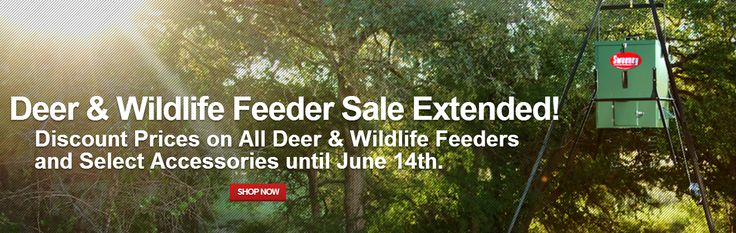 Today & tomorrow mark the last days of our Deer& Wildlife Feeder Sale! Get discounts on all deer & wildlife feeders and select accessories. Sales ends 6/14.   http://www.sweeneyfeeders.com/shop/wildlife-deer-feeders/ #deer #wildlife #feeders #sweeneyfeeders #hunting #sale