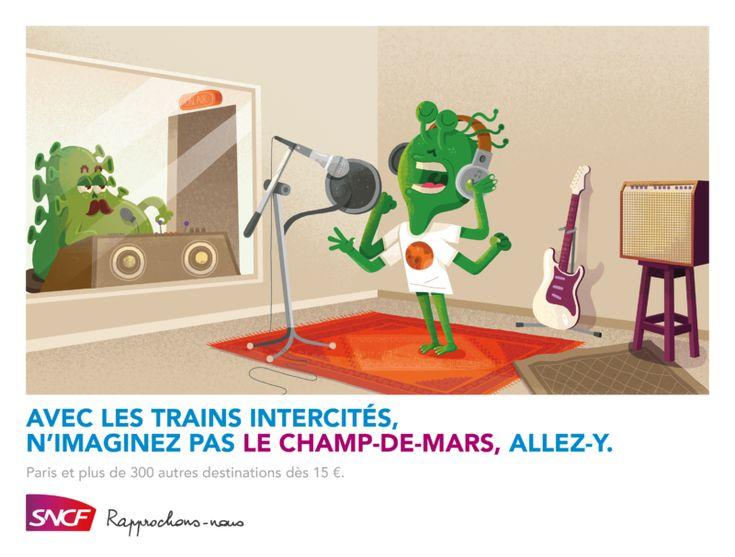 Campagne SNCF Intercités / Paris par TBWA France