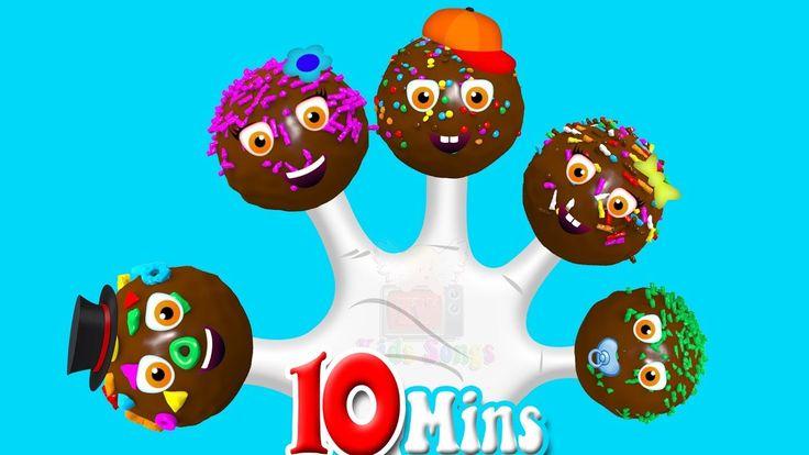 Finger Family Chocolate Cake Pops ♪ Nursery Rhymes For Children ♪ Kids S...