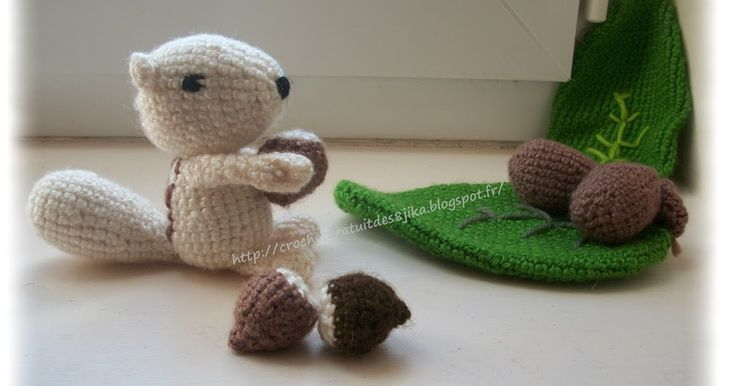 le crochet des8jika: écureuil au crochet  Squirrel crocheted