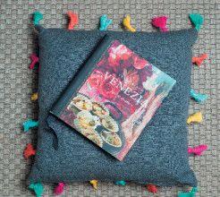 Rainbow tassels cushion. #Sewing #DIY #Craft #SouthAfrica
