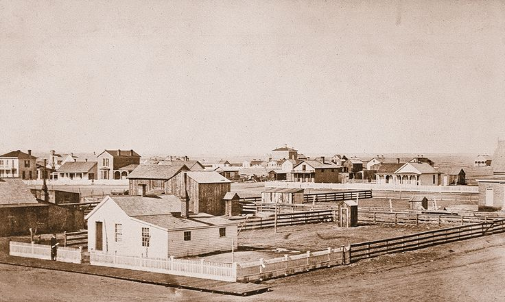 On July 5, 1867, Gen. Grenville Dodge chose a site for a new rail town on Union Pacific's transcontinental line on Crow Creek in Dakota Territory. By 1876, the territorial capital, named Cheyenne in honor of the local Plains tribe, had quickly become the territory's most important commercial city.