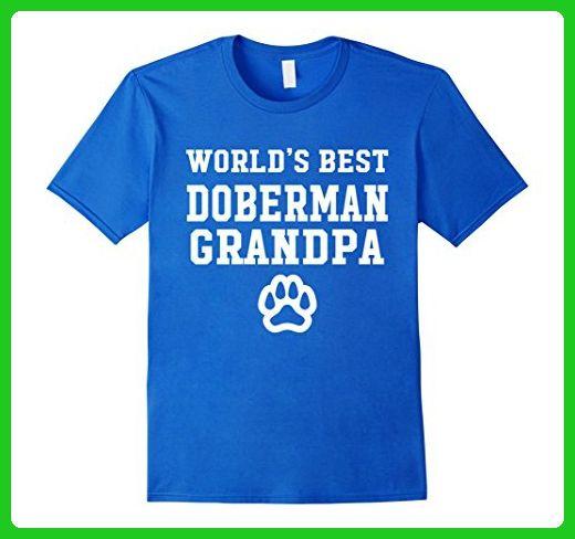 Mens World's Best Doberman Grandpa Dog Lover Pawprint T-Shirt  Small Royal Blue - Animal shirts (*Amazon Partner-Link)