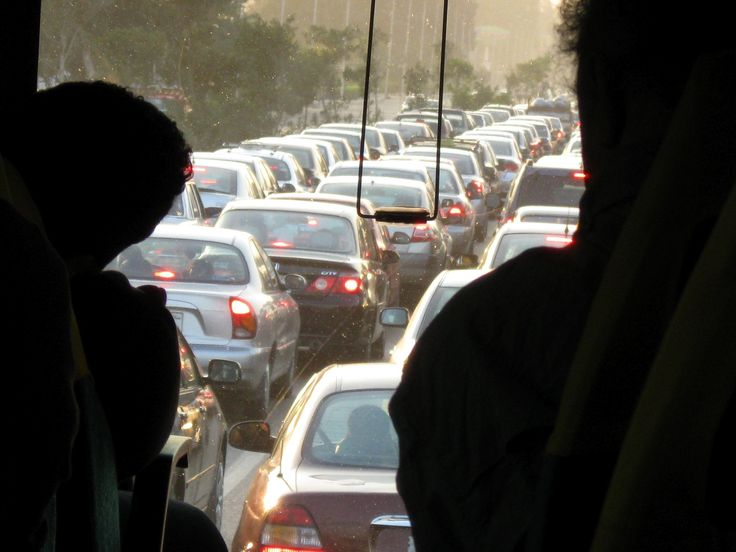 Approaching Cairo during rush hour--which is pretty much all day long.