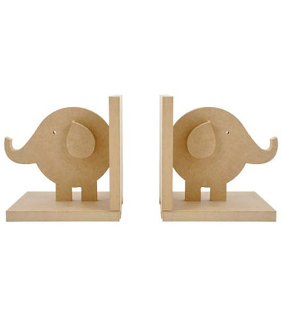 "I need these for the nursery!! (Kaisercraft Beyond The Page MDF Elephant Bookends 5""X5""X5"" )"