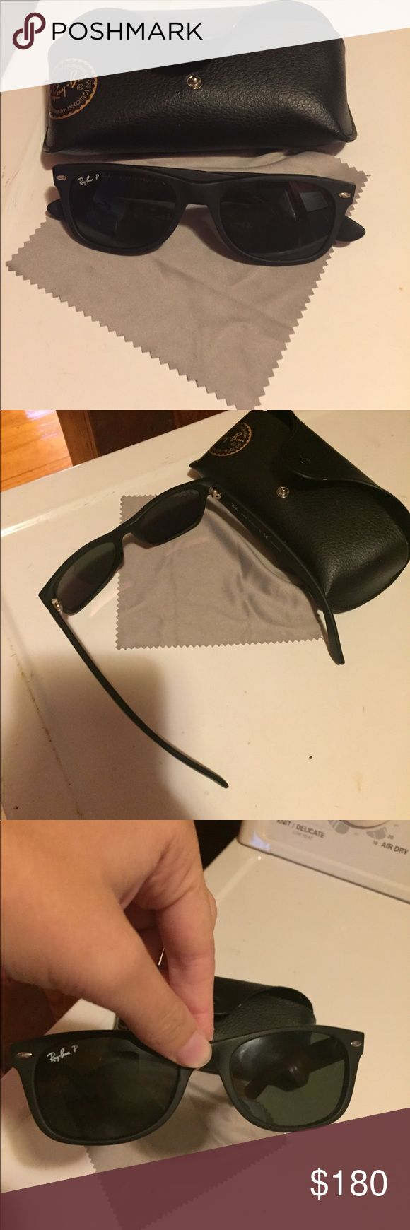 polarized org ray ban wayfarer i bought for 210$ at the sunglass hut. they have only been worn once and kept in case. asking 200 obo. make offer. Ray-Ban Accessories Sunglasses