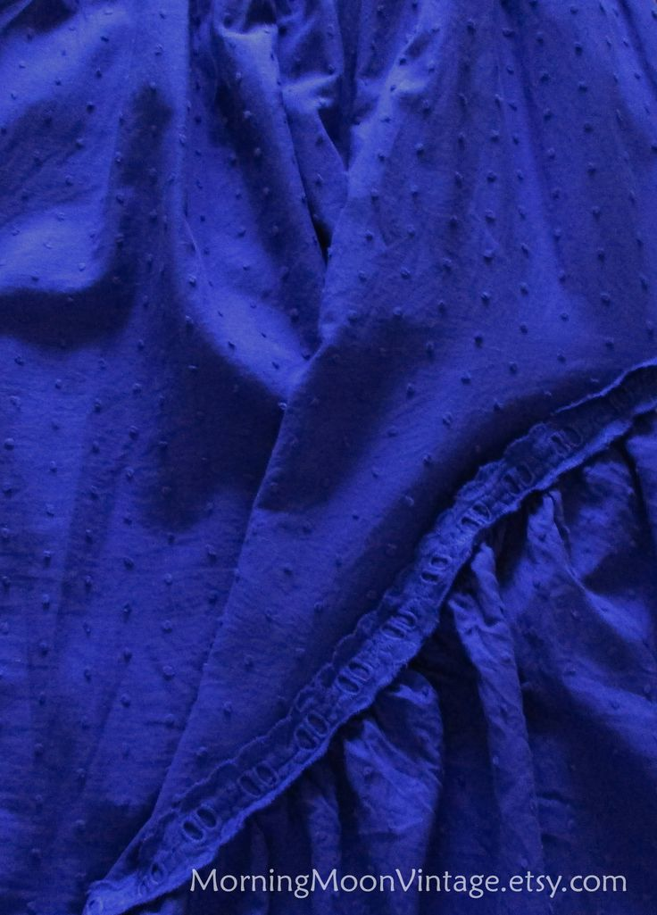 Babydoll sundress, Vintage 90s BOHO GRUNGE, Deep Dark Blue Indigo Cotton, babydoll minidress, spaghetti straps, short blue festival dress, M by MorningMoonVintage on Etsy