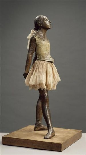 a c. 1881 sculpture by Edgar Degas of a young student of the Paris Opera Ballet dance school named Marie van Goethem.