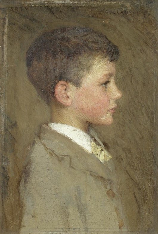 Sir George Clausen  Portrait of Arthur George Clausen (1893)  oil on panel  9⁷/₁₆ X 6⁵/₁₆ in.