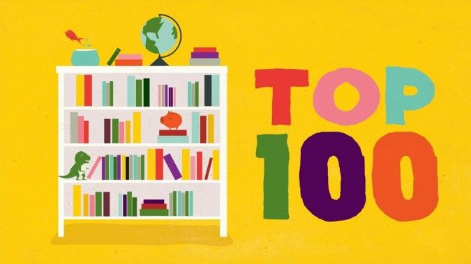The top 100 books for kids aged 9-14.