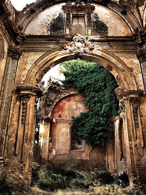 Ancient Arch, Zaragoza, Aragon, Spain