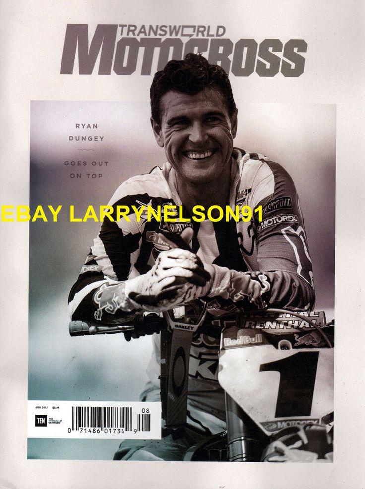 TRANSWORLD MOTOCROSS MAGAZINE AUGUST 2017 RYAN DUNGEY COOPER WEBB DEAN WILSON GT