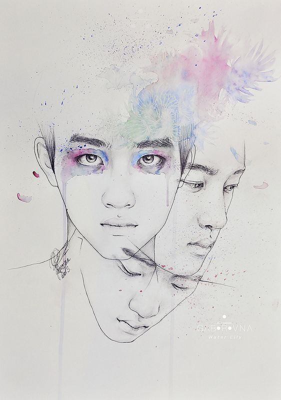 Kyungsoo - Water Lily fanart | Flickr - Photo Sharing!
