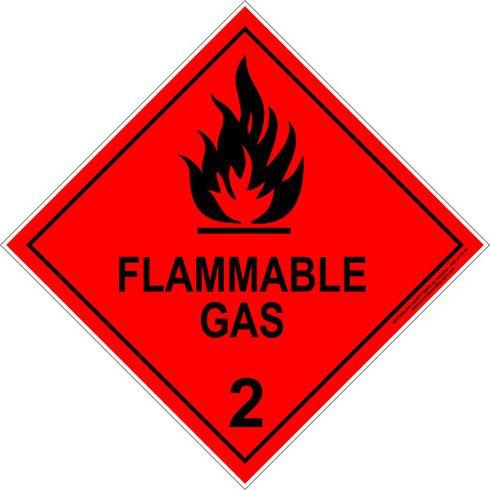 HAZCHEM-FLAMMABLE GAS (270mm) - Metal $27.50 (Inc GST)