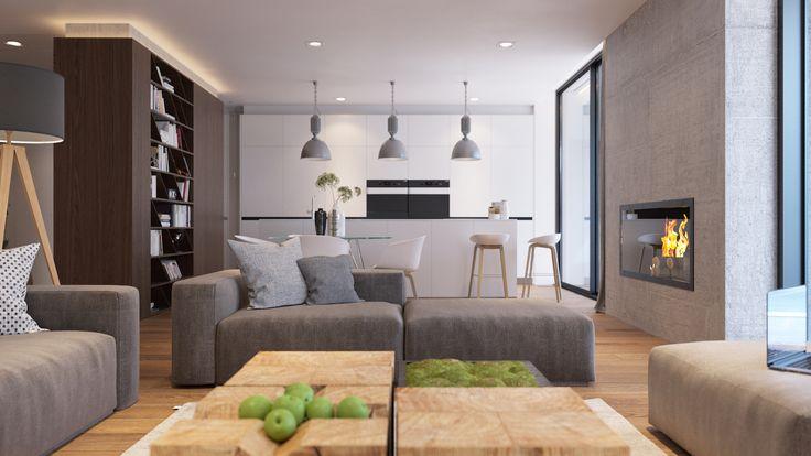 Obývačka v prírodnom štýle - Moderné spojenie s prírodou, MYDOM