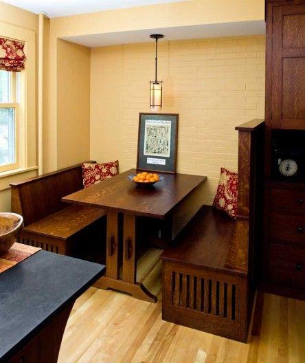 Best Arts Crafts Kitchen Images On Pinterest Bungalow - Craftsman bungalow kitchen breakfast nooks