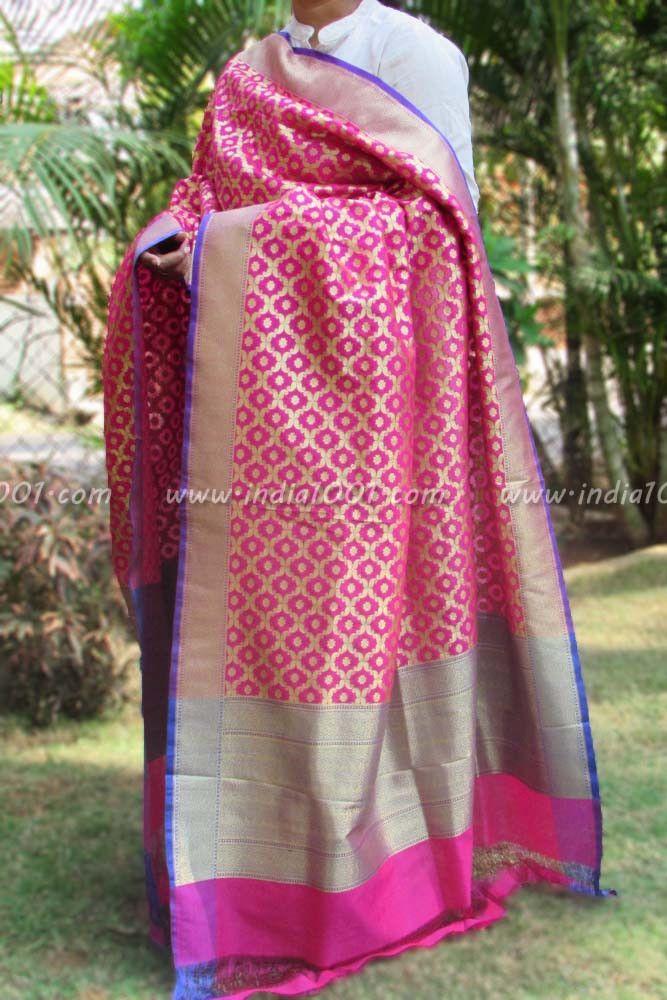 dupatta  Gorgeous Woven Banarasi Silk Dupatta - SM1