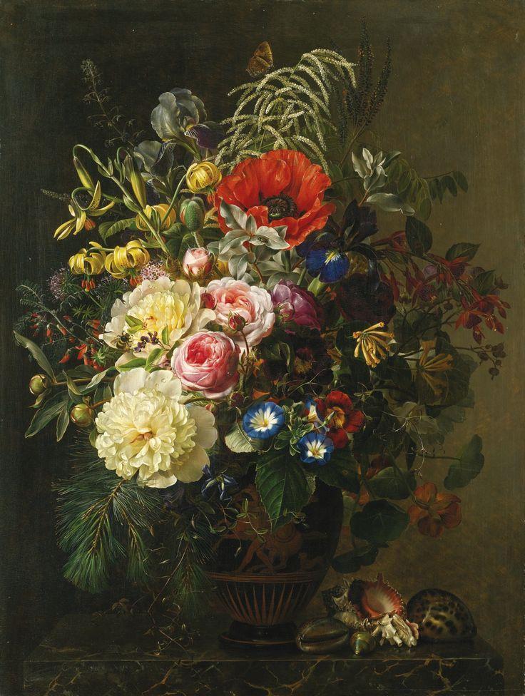 Цветочно-Натюрмортное в мою коллекцию.Johan Laurentz Jensen (1800 - 1856…
