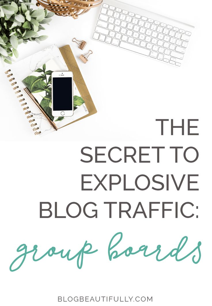 Ready to get in on the BEST way to explode your blog traffic? Click through to learn how to maximize group boards on Pinterest... blogbeautifully.com