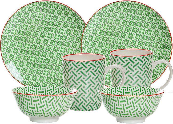 Ritzenhoff & Breker Frühstück-Set, grün, Porzellan, 6 Teile, »MAKINA« Jetzt bestellen unter: https://moebel.ladendirekt.de/kueche-und-esszimmer/besteck-und-geschirr/geschirr/?uid=0eb913c9-67af-5e17-b072-76c27827a4cf&utm_source=pinterest&utm_medium=pin&utm_campaign=boards #geschirr #porzellan #kueche #esszimmer #besteck