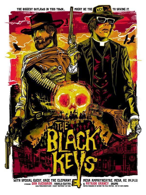 The Black KeysGigposters, Rhys Cooper, Keys Posters, Picture-Black Posters, The Black Keys, Band Posters, Gig Posters, Music Posters, Concerts Posters
