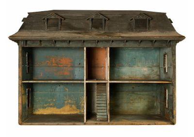 euliss:  united states, 1800's, a massive american dollhouse in it's original condition. owned at one point by a little girl named 'nancy allen'