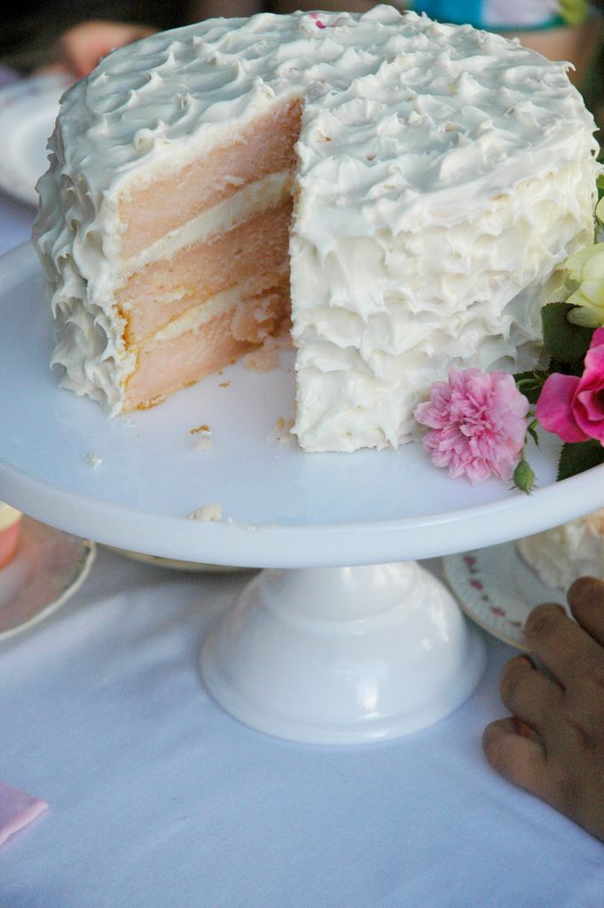 """Pink lemonade cake with lemon cream cheese frosting. It uses Country Time pink lemonade powder! I HAVE to try this before my next """"take-a-cake"""" event."""
