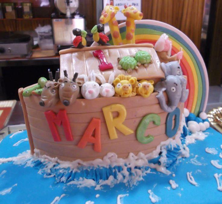 "Noah's Ark Cake Theme   Torta di Compleanno Marco  Tema ""Arca di Noè""    by Blanche Experience Weddings"