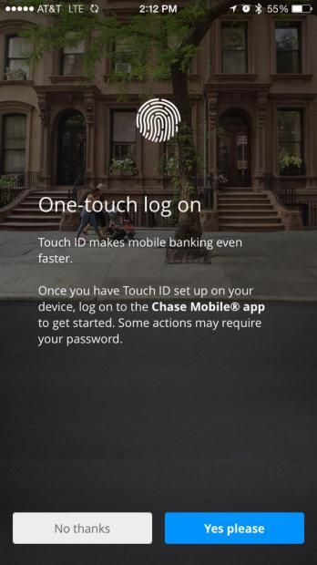 Chase Bank iPhone app now lets you log in with Touch ID