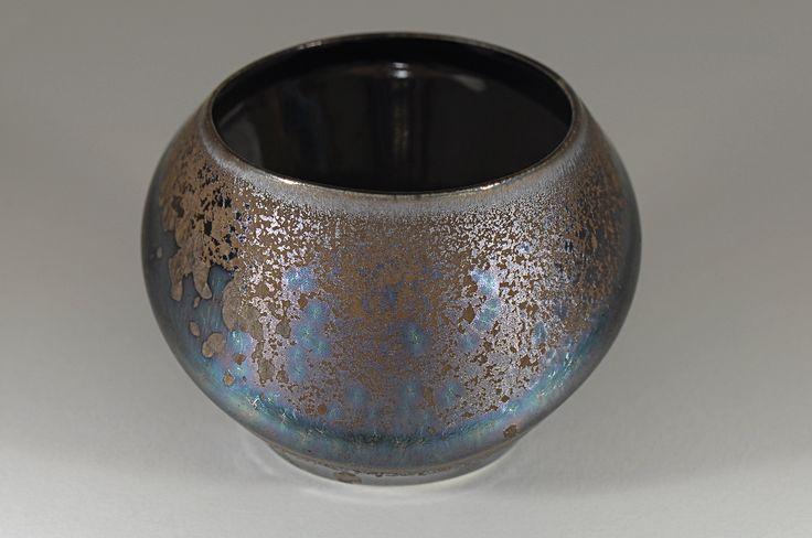 Peter Biddulph - Sake Cup Orbit - Southern Ice Porcelain - Iridescent Crystalline Glaze