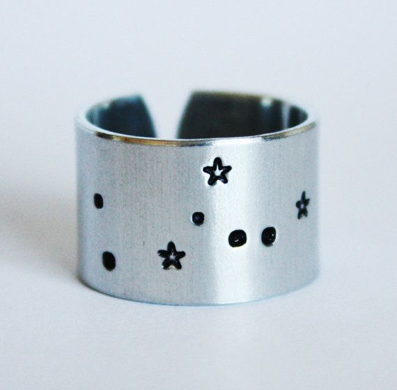 Hey, I found this really awesome Etsy listing at https://www.etsy.com/listing/109576965/taurus-zodiac-constellation-ring-taurus