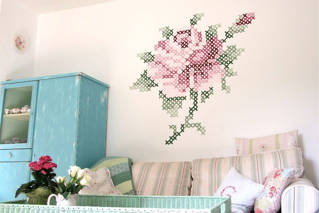 Cross Stitch Mural