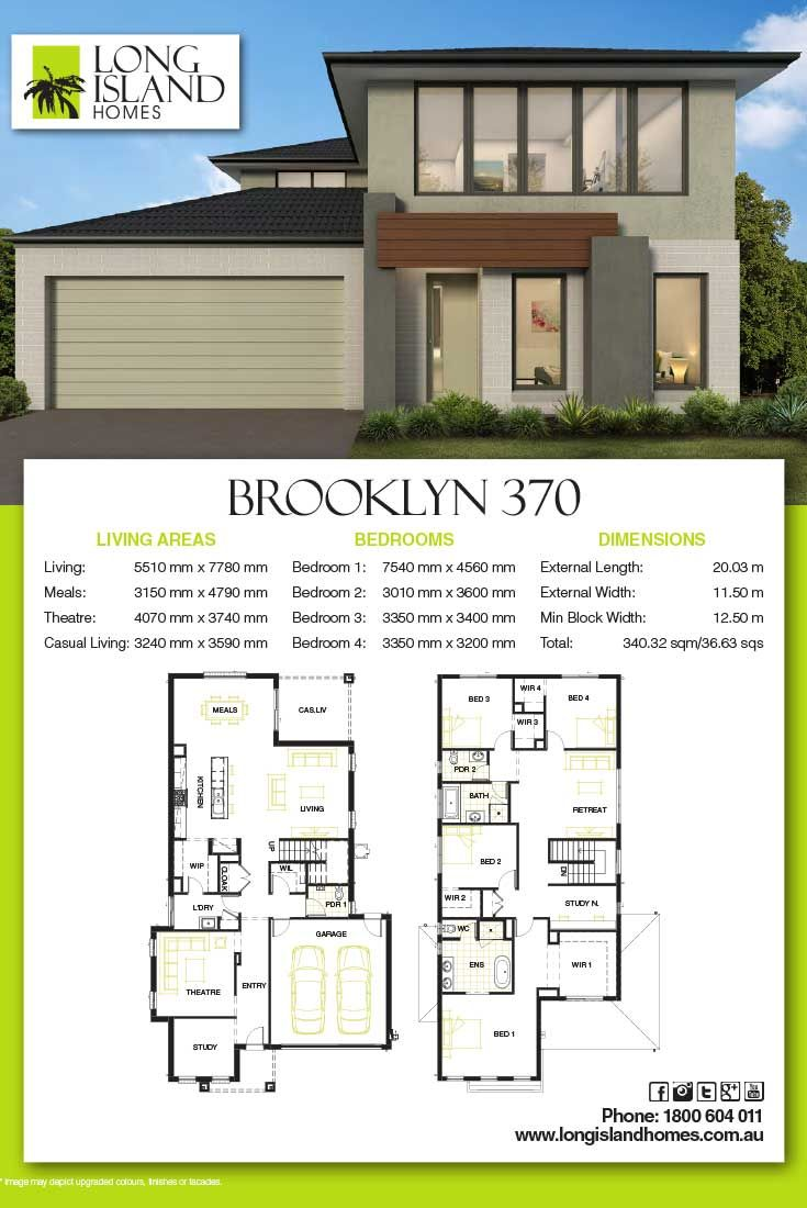 Long Island Homes 2018 Floor Plan Of The Brooklyn 370 Home Builders Melbourne House Design New Home Builders