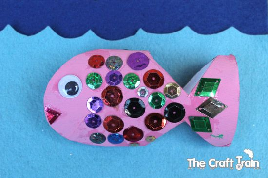Toilet Roll Fish Craft from The Craft Train