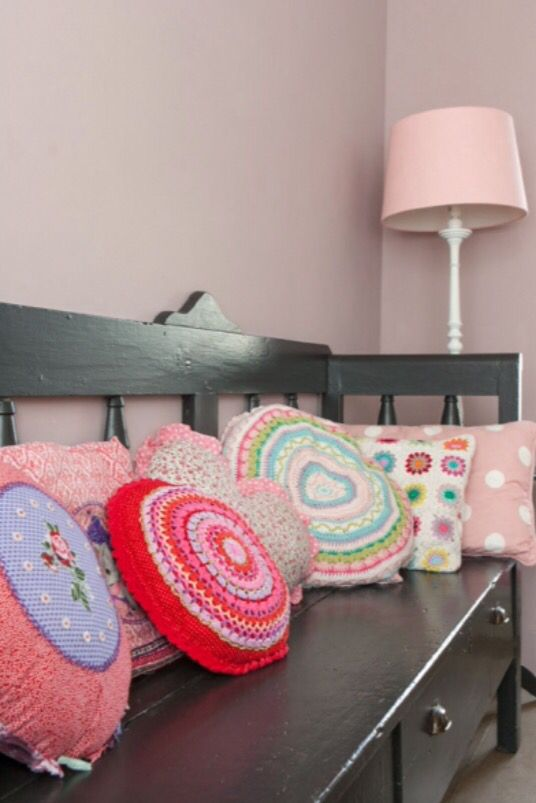 "These colourful pillows are from our feature ""Crochet Hip & Hype"""