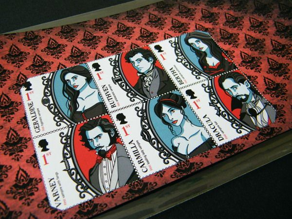 Great British Vampires of the 19th Century by Donna Hall, via Behance