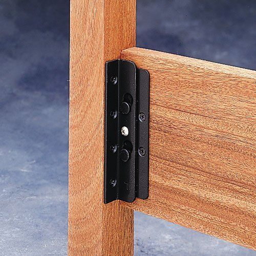 Bed Frame Brackets Home Depot Bed Rail Fasteners Home