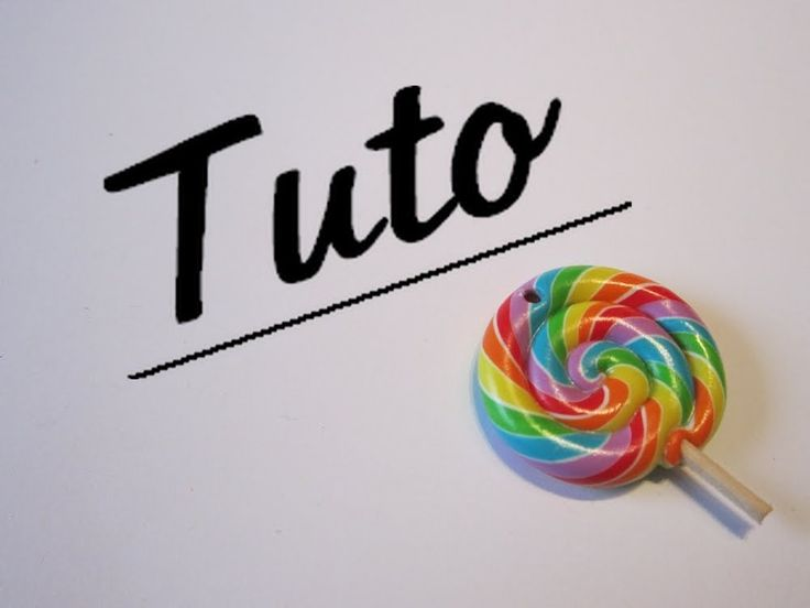 Tuto fimo lollipop multicolore