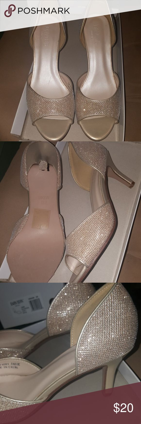 David's Bridal Gold Jadie shoes 7 Size 7 new in box gold David's Bridal shoes David's Bridal Shoes Heels