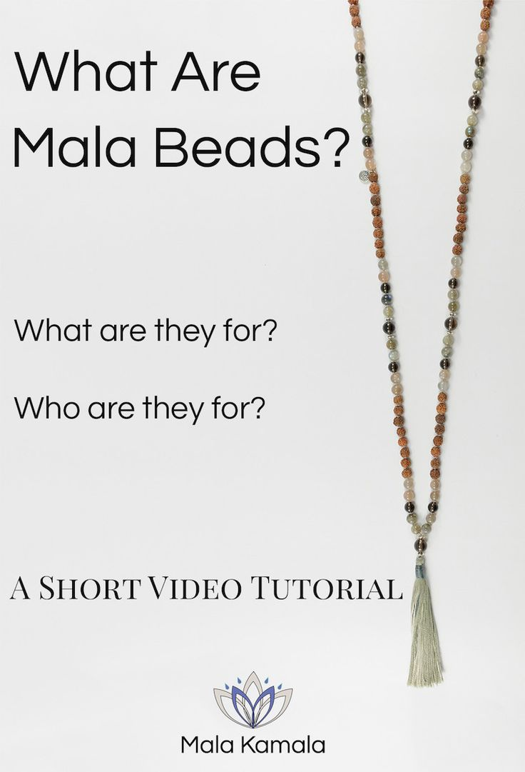Pin Now, Watch Later. In this video learn what does mala or mala beads mean, what are malas and mala beads used for and who can use or wear a mala. A basic introduction in a nutshell. Mala Kamala Mala Beads - Boho Malas, Mala Beads, Yoga Jewelry, Meditation Jewelry, Mala Necklaces and Bracelets, Mala Headpieces, Childrens Malas, Bohemian Jewelry and Baby Necklaces