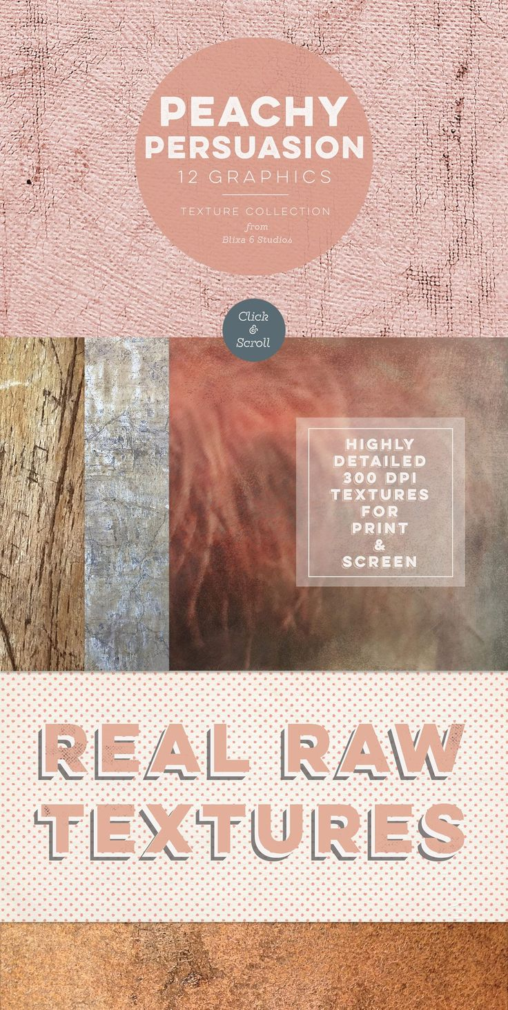 Peachy Persuasion Textured Graphics - Textures from Blixa 6 Studios - grab your set today for only $11!