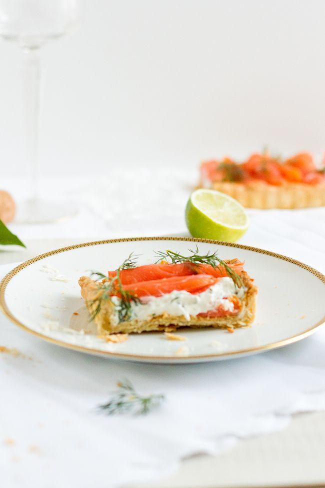 salmon tart with cream cheese & horseradish