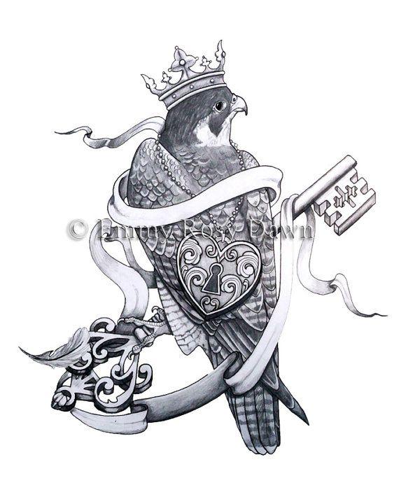Falcon tattoo design - photo#15