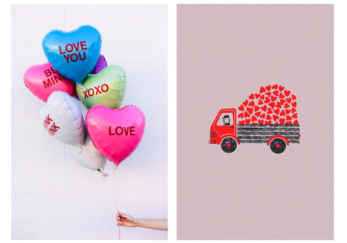 Balloons w/Valentines wishes in Spanish - photo booth & homemade cards for friends