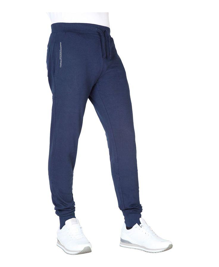 Ferre abbigliamento - collezione a/i 2016 - pantaloni tuta uomo - composizione: 100% co - due tasche laterali e una tasc - Pantalone tuta uomo  Blu