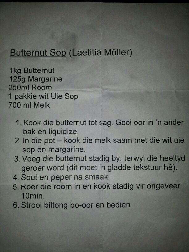 Butternut sop